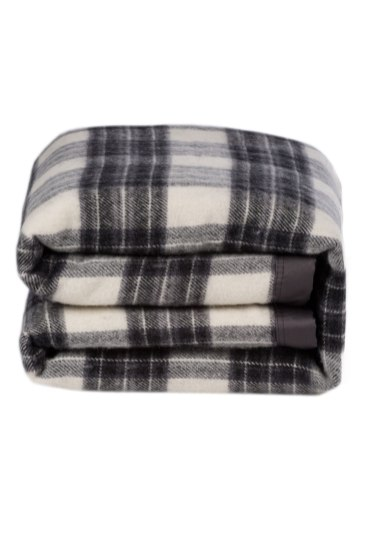 Aspen Wool Blanket in Grey Check