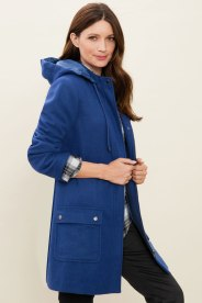 Capture Duffle Coat in Blue - striking and trendy. Style 152323