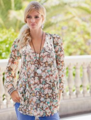 Spring Romance! Together Crinkle Blouse style 153594