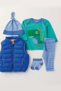 Next Blue/Green Dino Four Piece Set (0mths-2yrs)