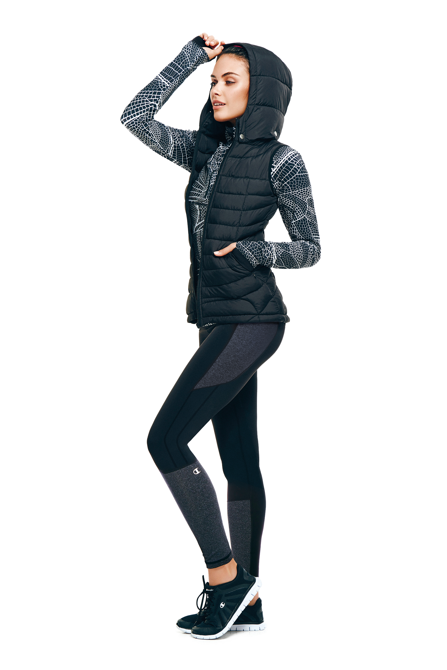 Champion Powertrain Puffer Vest, Champion The Trainer 1/4 Zip, and Champion Go To Tight