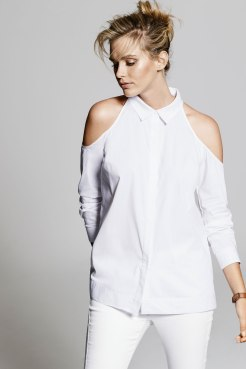 Emerge Cold Shoulder Shirt. Style 159999