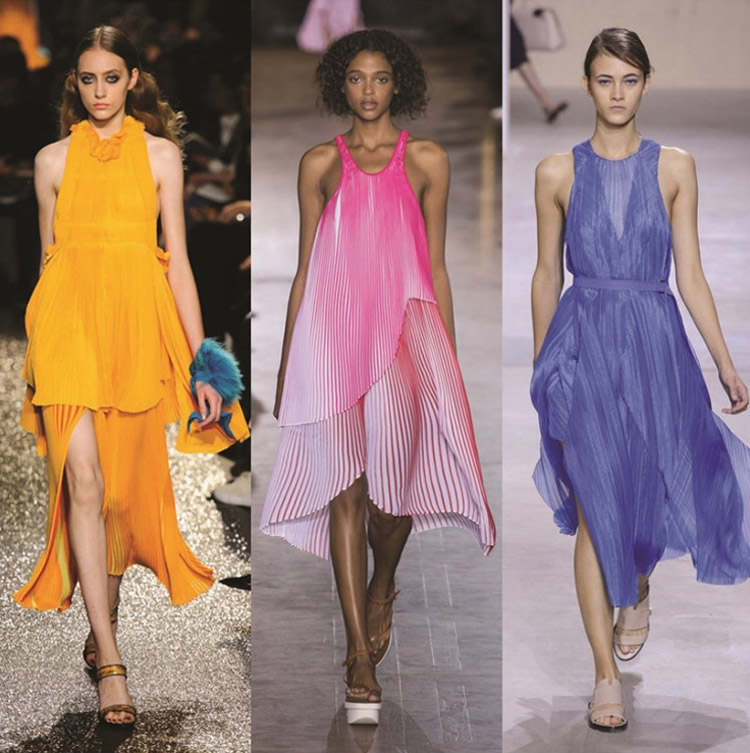 The pleated dress rocking the runway