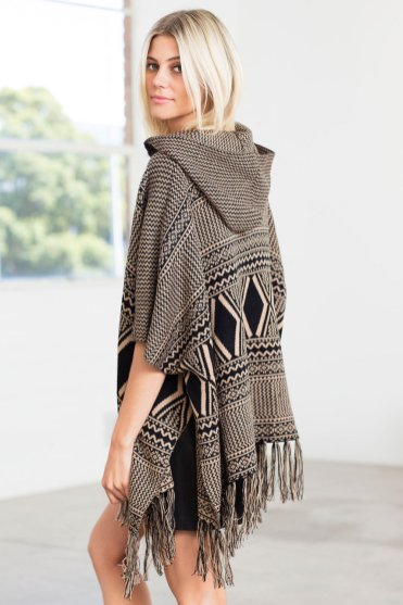 On Zoe's Fashion Wishlist: Dress up or down for winter. New Look Hooded Blanket Cape Style Number: 152276