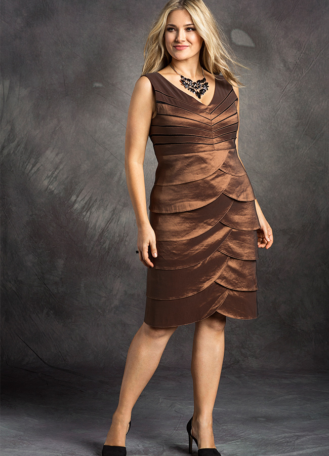 Plus-Size-Bronze-Dress