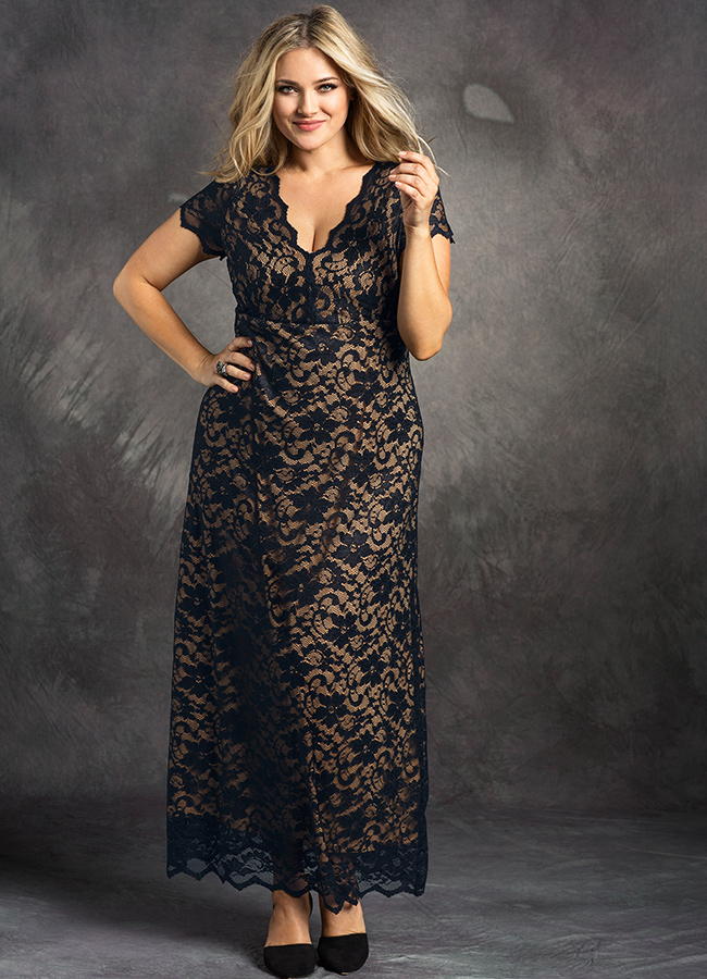Plus-Size-Lace-Dress