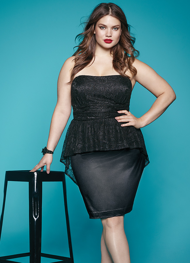 Plus-Size-Peplum-Dress