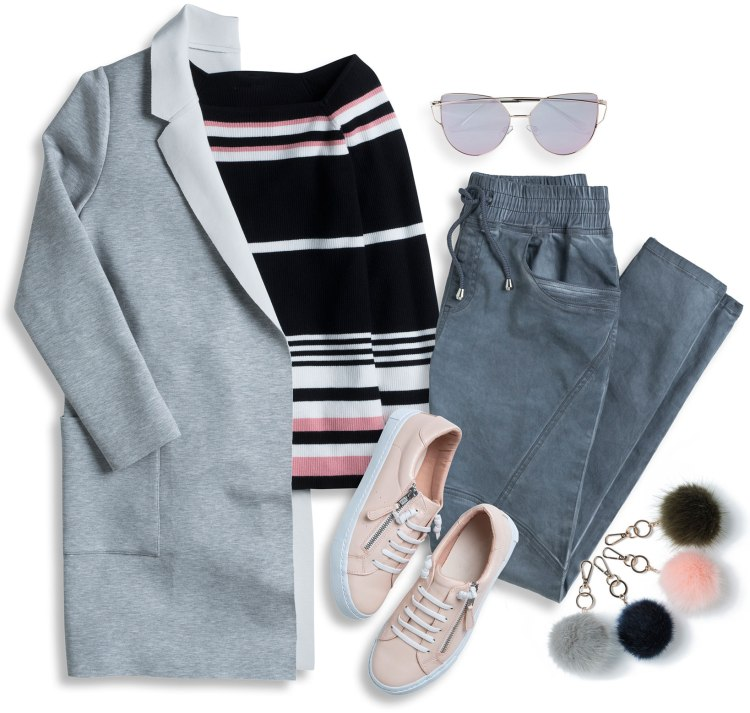 Wear to all the wineries: Shop Jacket, Top, Sunglasses, Pants, Keyring and Sneakers.