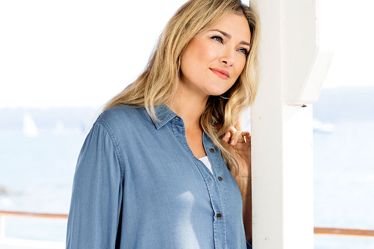 Sara Plus Size Clothing - your autumn Denim Shirt
