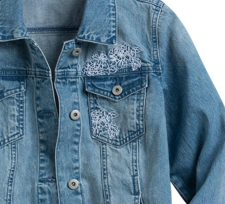 The Embroidered Denim Jacket