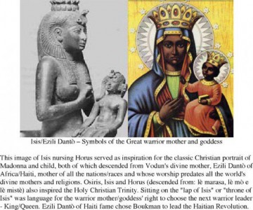 Comparing Isis and Ezili Dantò to reveal African mother of planet earth