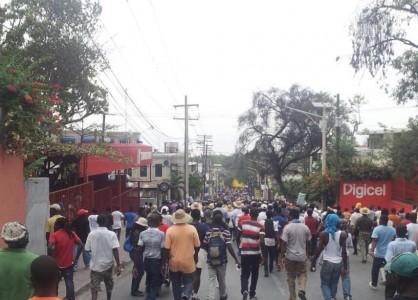 Haiti protest  - Feb 7, 2015