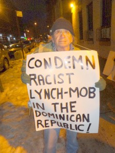 #We Are All Dominicans. Condemn the racist mob lynching of Haiti man in the Dominican Republic. Justice for Tulile