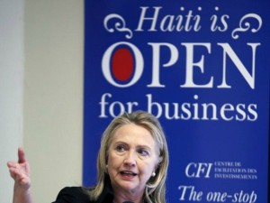 "Hillary and Bill Clinton ""open Haiti"" to as their private asset to liquidate using the resources of the World Bank, the State Department, USAID, the UN, the Private Military Security Contractors, the US military, passport and visa issuance capabilities, getting kickbacks as ""donations"" from anyone who wished to buy from them a piece of Haiti lands, oil, iridium, uranium or gold. Photo Source: AP"
