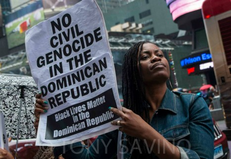 No to Civil Genocide in the Dominican Republic. Photo Credit: Tony Savino
