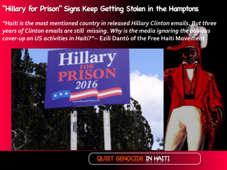 """Hillary for Prison"" Signs Keep Getting Stolen in the Hamptons"