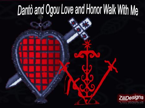 Èzili Dantò Zili Designs Vèvè #2. Available for sale to support Ezili Dantò's Work