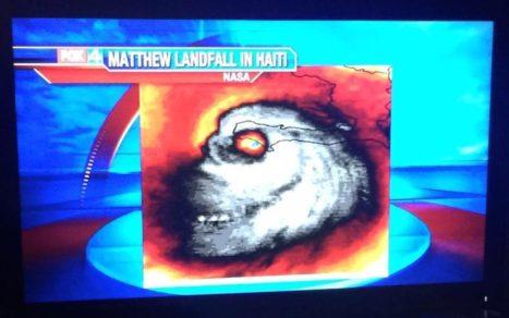 Hurricane Mattthew Giant Skull Hit Haiti