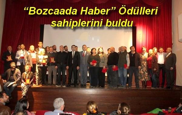 """""""Bozcaada Haber"""" Ödülleri sahiplerini buldu"""