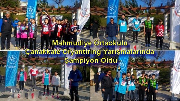 Mahmudiye Ortaokulu Çanakkale Oryantiring Yarışmalarında Şampiyon Oldu