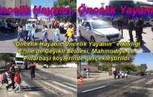 """Ezine'de Jandarma'dan """"Öncelik Hayatın, Öncelik Yayanın"""" etkinliği yapıldı"""