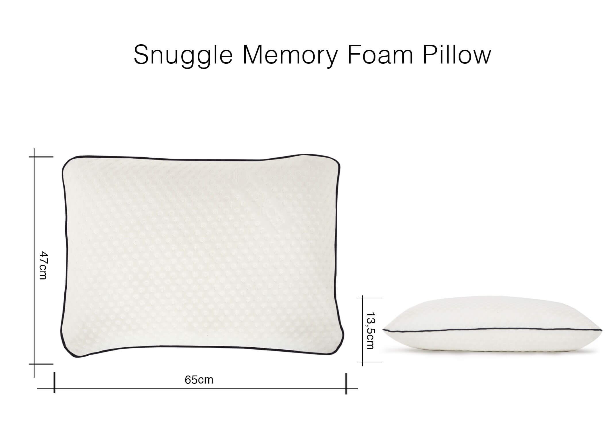memory foam pillow snuggle