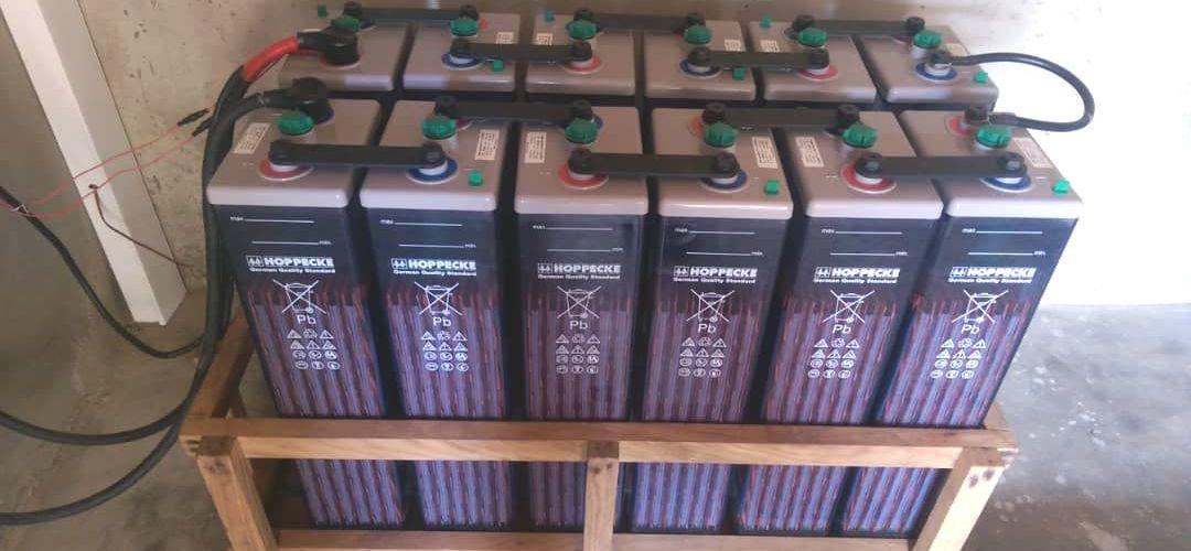le banc de batteries