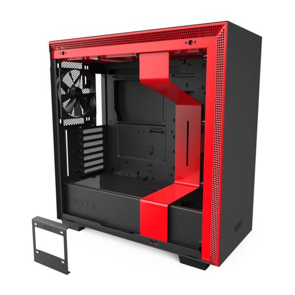 h710 matte black red 5