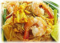 อาหารไทย : ผัดไทยกุ้งสด