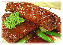 สูตรอาหารไทย : ซี่โครงหมูอบน้ำผึ้ง