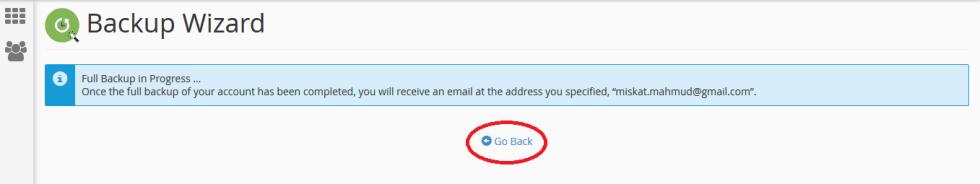 Generate Backup