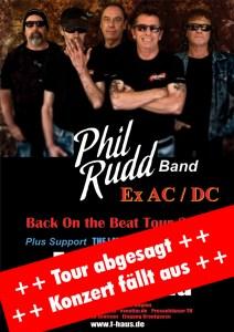 PHIL RUDD (Tour abgesagt, fällt aus) @ F-Haus | Jena | Thüringen | Deutschland