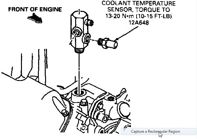 01 Ford F 150 Temp Sensor Location