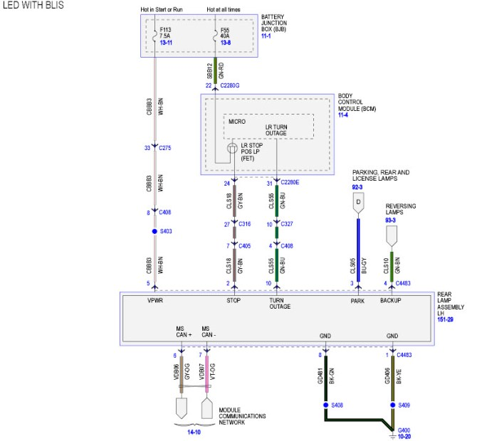 led  bliss tail light wiring diagram  ford f150 forum