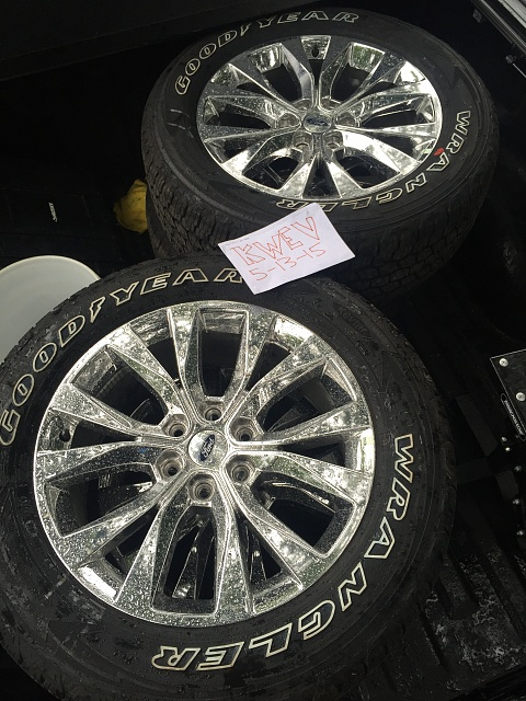 2015 F 150 LariatPlatinum Style 20 Wheels And Goodyear