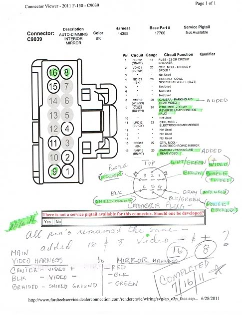 F150 Mirror Rear Wiring Diagram View 2016