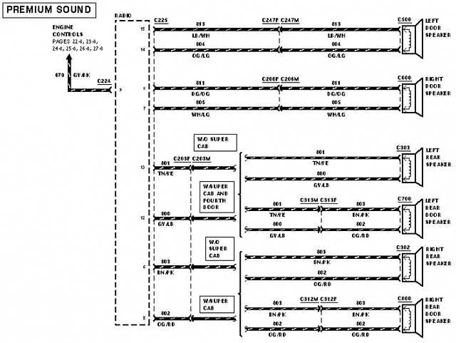 ford f stereo wiring schematic wiring diagram 1995 ford ranger radio wiring diagram wire 97 ford expedition