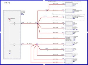 Wiring diagram for 2006 F150; harness in drivers side dash