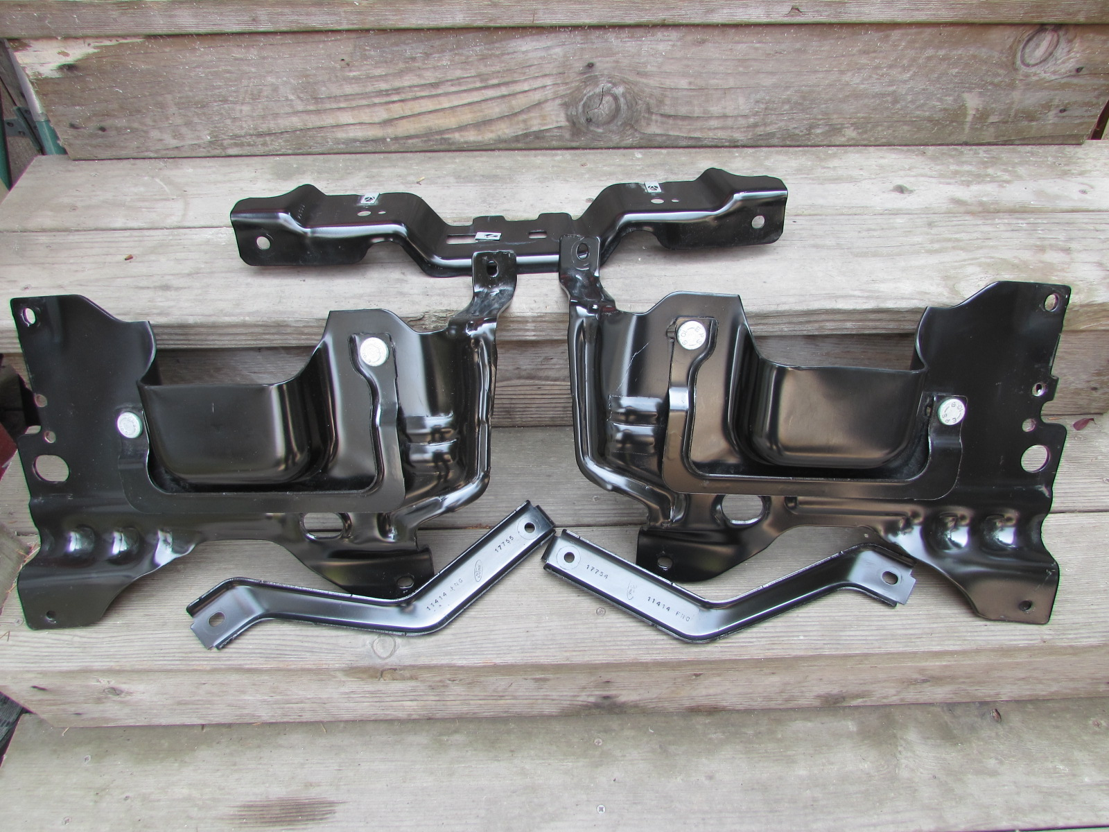 Southwest 09 14 Front Bumper Mounting Brackets Complete
