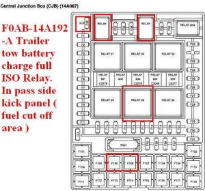Trailer towing package relay locations  Page 3
