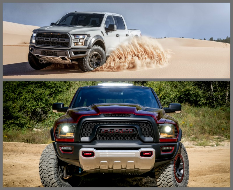 2017 Ford F-150 Raptor vs 2017 Ram Rebel TRX - F150online.com Ford Raptor Vs Ram Rebel on rebel dodge ram truck 2016, fiat pickup truck ram, rebel dodge ram truck 2015,