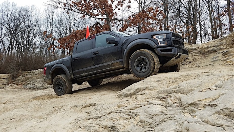 """Extra grip comes from the tires. The Bridgestone KO2 off-road tires are branded as """"Baja Champion"""" and it shows. They stick everywhere, on every surface. Wet rocks? No problem! Sand? No problem!"""