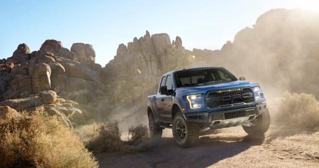 2017 Ford Raptor Front End Desert