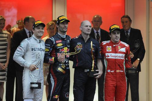 Podio del Gran Premio de Mónaco 2012