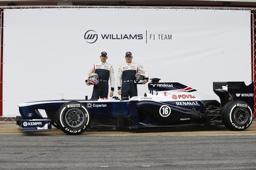 El Williams FW35, Pastor Maldonado y Valtteri Bottas