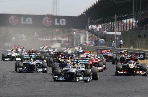 Salida del Gran Premio de Hungría 2013