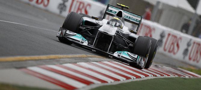 Rosberg con el DRS activado