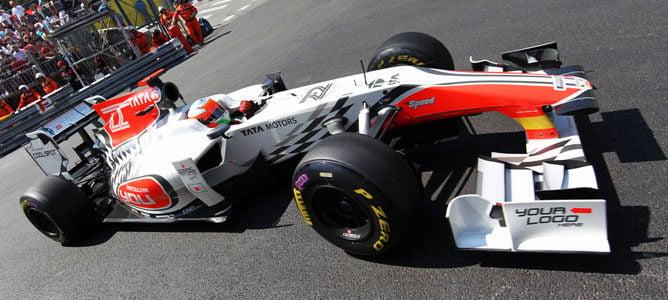 Karthikeyan rodando en el circuito de Mónaco