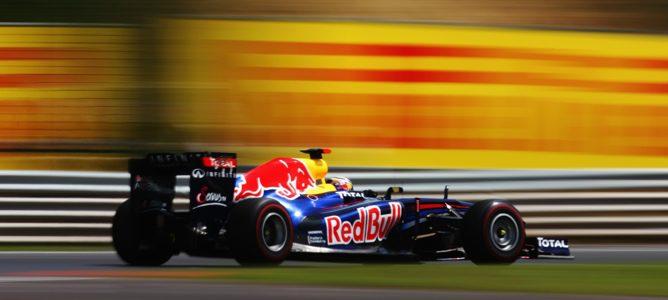 Vettel rodando en los Libres 3 de Hungaroring