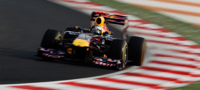 Vettel rodando en los Libres 3 de Nueva Delhi